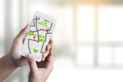 Gps Map To Route Destination Network Connection Location Street